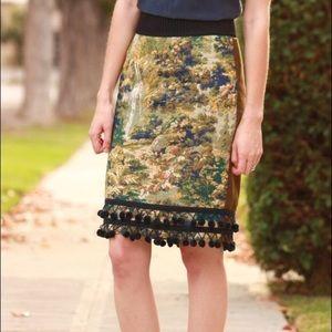 New Maeve Anthropologie Pommed Tapestry Skirt